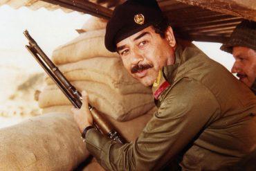 Sadam Hussein en un bunker