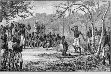 Ejecución de esclavos en el libro de libro de HM Stanley