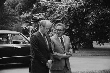 Gerald Ford y Henry Kissinger en la Casa Blanca