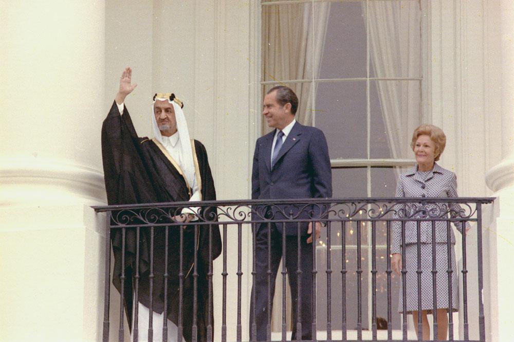 Rey Faisal de Arabia Saudí y Nixon 05-27-1971