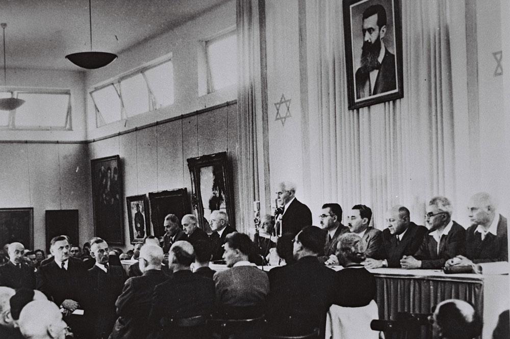 David Ben-Gurión declarando la independencia de Israel