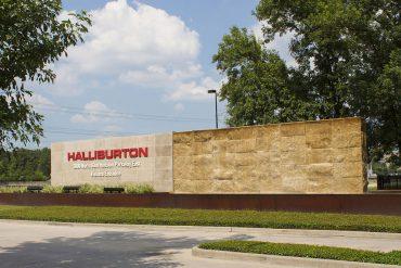 Entrada a la sede de Halliburton