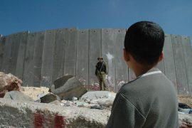 Muro de separación en Palestina