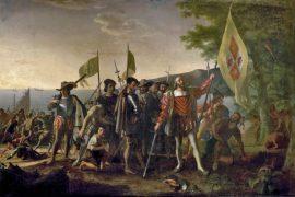 Cristobal Colón en La Española