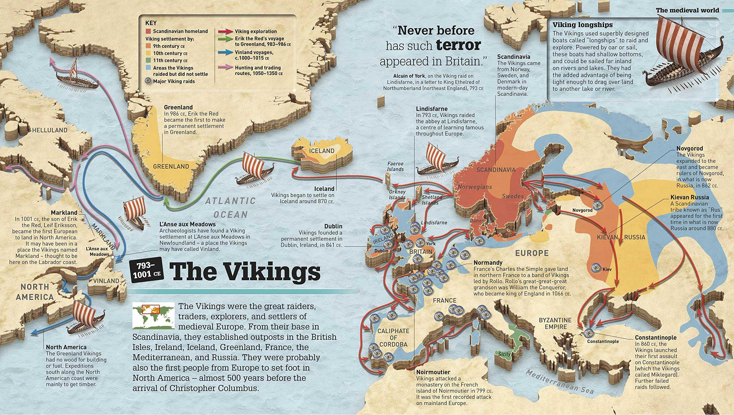 Mapa de expediciones vikingas
